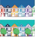 san francisco landmarks horizontal flat design vector image