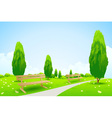 Park with Trees vector image vector image