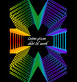 abstract outline background rainbow colored star vector image