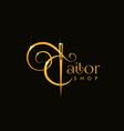 tailor shop logo vector image vector image