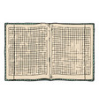 checkered notebook vector image