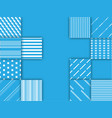 blue and white square background abstract vector image