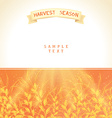 Harvest season vector image