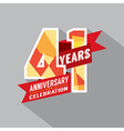 41st Years Anniversary Celebration Design vector image