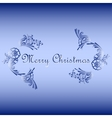 floral ornament with Merry Christmas text vector image