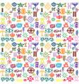 Tribal ethnic symbols colorful background vector image