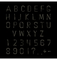 Hipster linear font alphabet vector image vector image