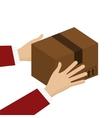 cardboard box icon vector image