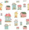Cute cartoon houses vector image
