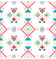 geometric seamless pattern with ethnic ornament vector image