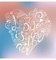 Hand drawn romantic poster vector image
