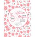 invitation wedding card with sakura flowers vector image