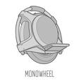 Monowheel Icon vector image