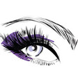 purple scribbles female closed female eye vector image