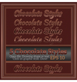 Set Of Sweet Chocolate Graphic Styles for Design vector image