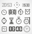Different slyles of clock collection vector image