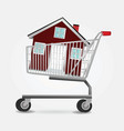 shopping home vector image vector image