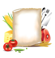 paper food background vector image