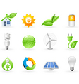 Ecology and green energy icon vector image