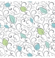 Gray Green Blue Swirl Branches Leaves vector image