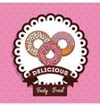delicious donuts design vector image