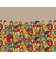 Crowd of trendy people and beige color vector image