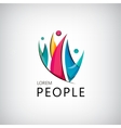 men people team family human logo icon vector image