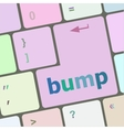 Computer keyboard with bump key business concept vector image vector image