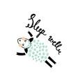another sleeping sheep vector image