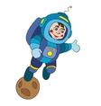 astronaut planet vektor vector image