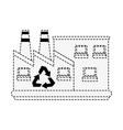 green factory symbol vector image