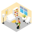 Living Room Fitness Composition vector image