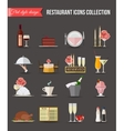 Restaurant icons set Flat style design vector image
