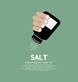 Salt Bottle In Hand vector image