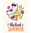 Summer card with hand drawn stylish lettering - vector image