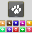 trace dogs icon sign Set with eleven colored vector image