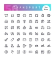 Transport Line Icons Set vector image