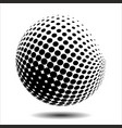 Set abstract halftone 3d spheres 18 vector image