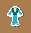 paper sticker fashion clothes men suit vector image