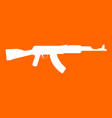 assault rifle white icon vector image vector image