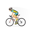 cyclist male on a white background vector image