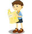 reading paper vector image