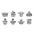 Beauty salon logo set of icons Beautiful labels vector image