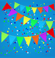 colorful confetti background with flags vector image