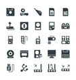 Electronic Cool Icons 7 vector image