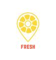 lemon icon like map pin vector image