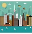 Modern city life vector image