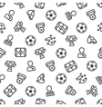 Soccer Icons Seamless Background vector image