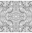 symmetric outline ornamental floral pattern vector image