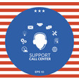 technical support operator flat icon vector image